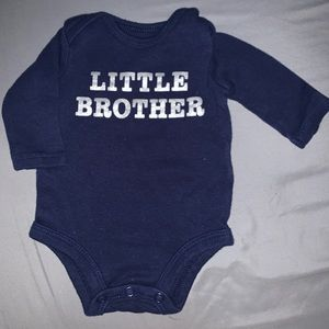 Boys navy blue body suite. Little brother.